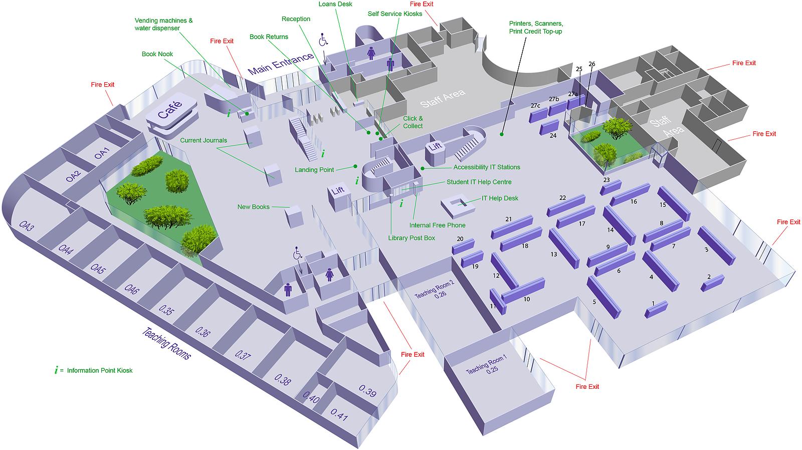 Ground floor 3D Map