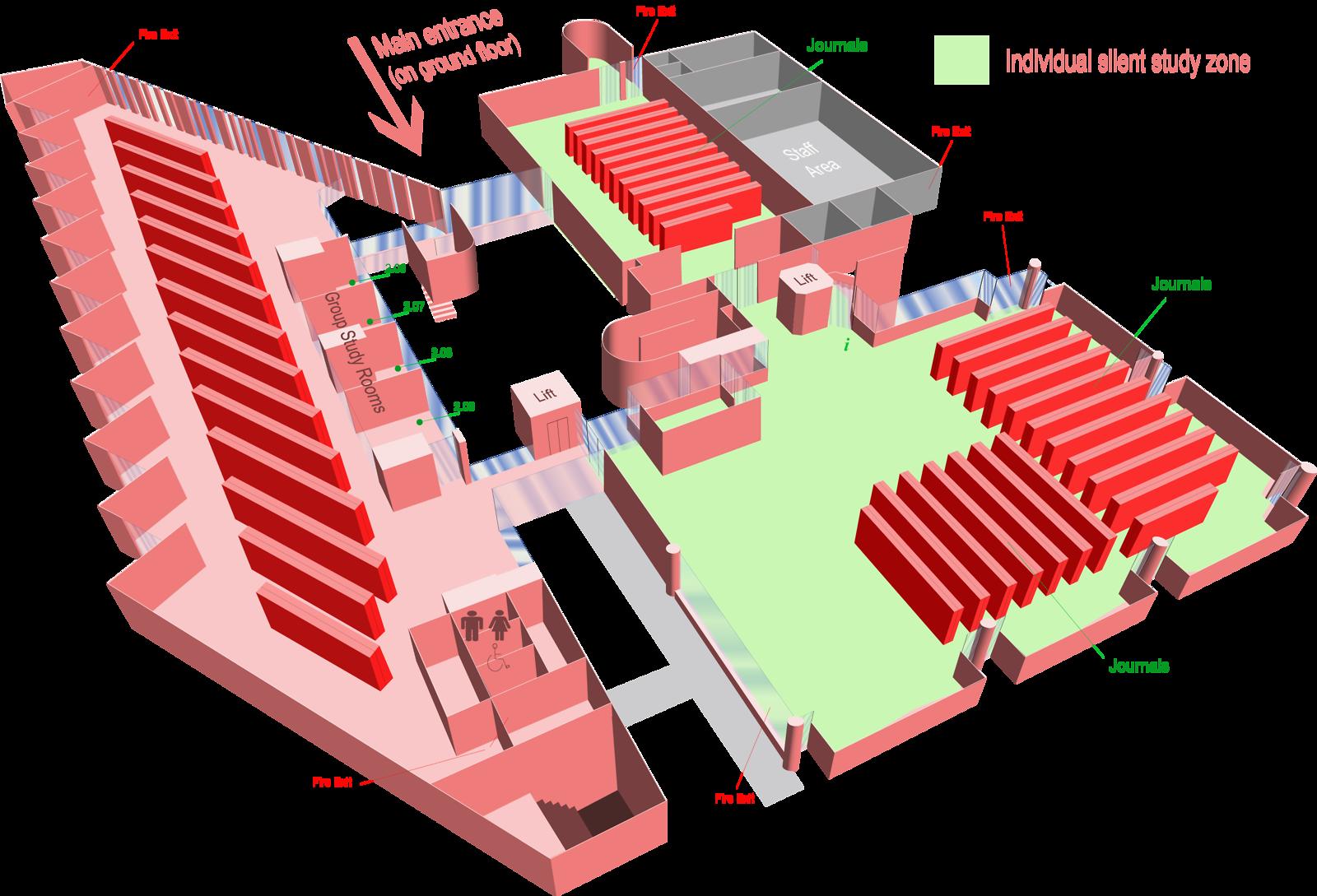 Second floor 3D Map