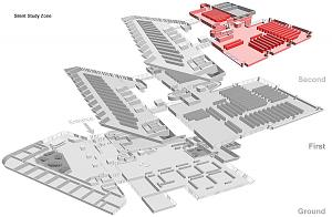 3D floor plans showing the new Individual Silent Study zones